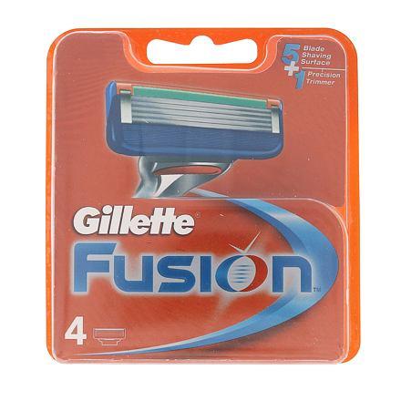 Gillette Fusion náhradní břit 4 ks pro muže