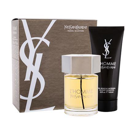 Yves Saint Laurent L´Homme 100 ml sada toaletní voda 100 ml + sprchový gel 100 ml pro muže