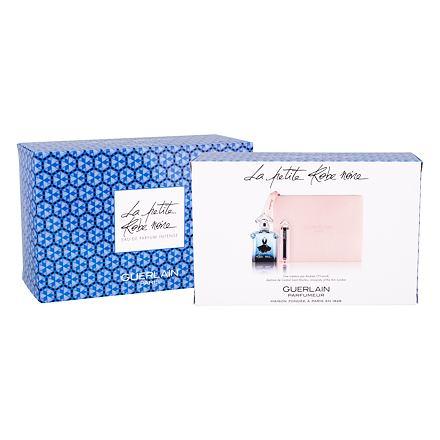 Guerlain La Petite Robe Noire Intense sada parfémovaná voda 50 ml + rtěnka La Petite Robe Noire Deliciously Shiny Lip Colour 068 Mauve Gloves 2,8 g + kosmetická taška pro ženy