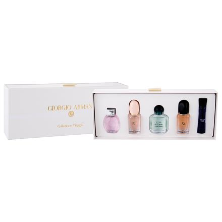 Giorgio Armani Mini Set 27 ml sada edt Emporio Diamonds 5 ml + edt Si 7 ml + edp Acqua di Gioia 5 ml+ edp Si 7 ml + edp Code Women 3 ml pro ženy