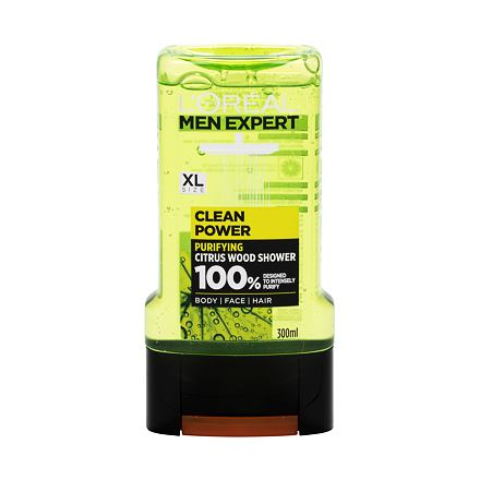 L´Oréal Paris Men Expert Clean Power sprchový gel pro problematickou pokožku 300 ml pro muže