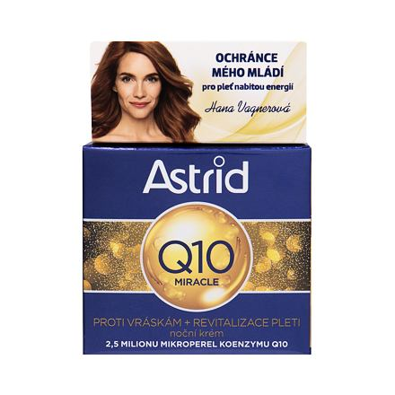Astrid Q10 Miracle noční krém proti vráskám 50 ml pro ženy