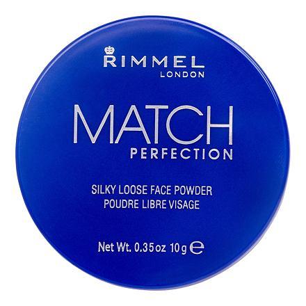 Rimmel London Match Perfection jemný pleťový pudr 10 g odstín 001 Transparent