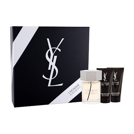 Yves Saint Laurent L´Homme 100 ml sada toaletní voda 100 ml + balsám po holení 50 ml + sprchový gel 50 ml pro muže