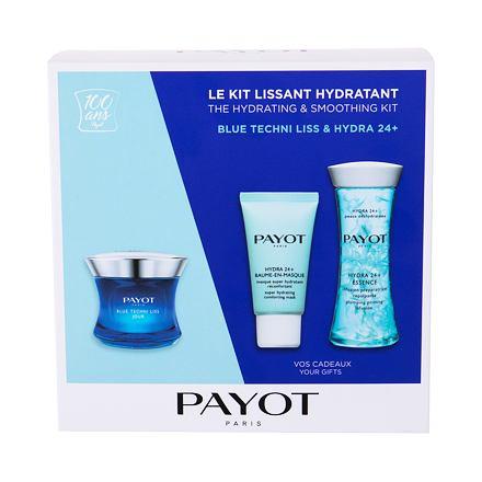 PAYOT Blue Techni Liss Jour 50 ml sada denní pleťová péče 50 ml + pleťová maska Hydra 24+ 15 ml + podkladová emulze Hydra 24+ 125 ml pro ženy
