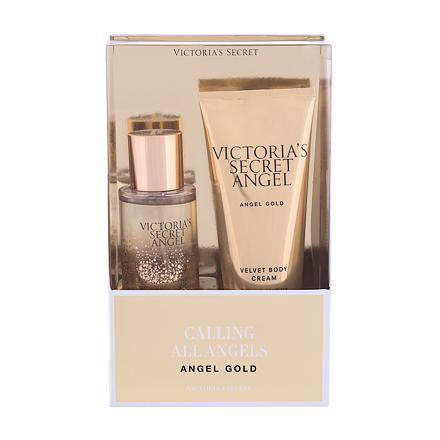 Victoria´s Secret Angel Gold 75 ml sada tělový sprej 75 ml + tělový krém 100 ml pro ženy