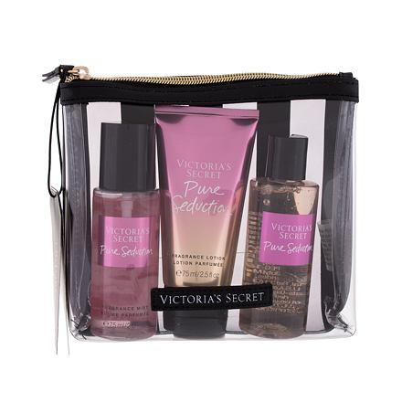 Victoria´s Secret Pure Seduction 75 ml sada vyživující tělový spray 75 ml + tělové mléko 75 ml + sprchový gel 89 ml + kosmetická taštička pro ženy