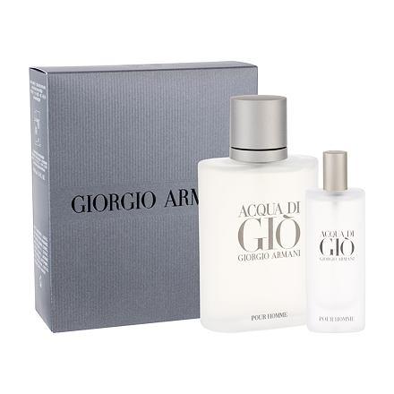 Giorgio Armani Acqua di Gio Pour Homme sada toaletní voda 100 ml + toaletní voda 15 ml pro muže