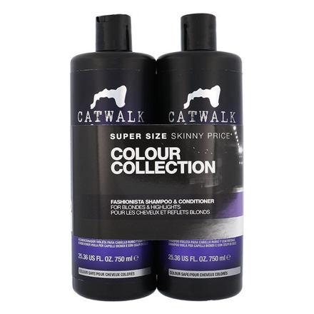 Tigi Catwalk Fashionista Violet 750 ml sada šampon 750 ml + kondicionér 750 ml pro ženy