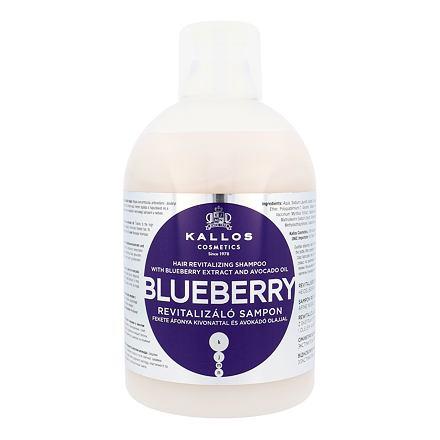 Kallos Cosmetics Blueberry regenerační šampon pro suché a poškozené vlasy 1000 ml pro ženy