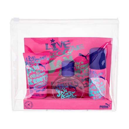 Puma Jam Woman sada toaletní voda 40ml + sprchový gel 50 ml + deospray 50 ml pro ženy