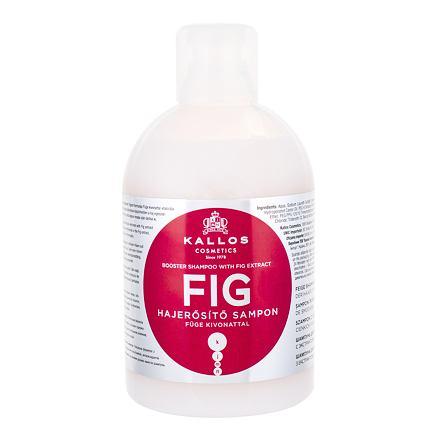 Kallos Cosmetics Fig vyživující šampon pro slabé a poškozené vlasy 1000 ml pro ženy