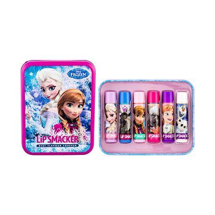 Lip Smacker Disney Frozen Lip Balm 4 g sada balzám na rty 6 x 4 g + plechová dóza pro děti