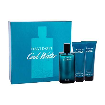 Davidoff Cool Water 125 ml sada toaletní voda 125 ml + balzám po holení 75 ml + sprchový gel 75 ml pro muže