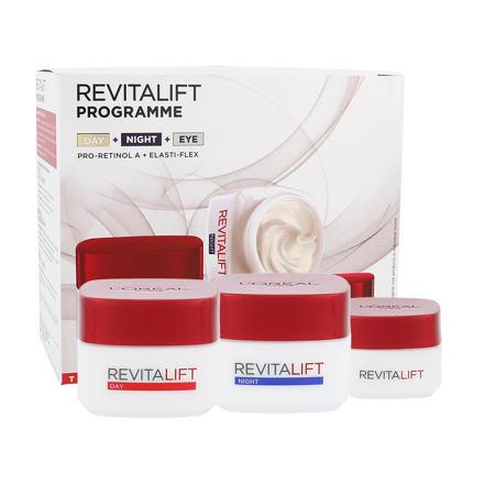 L´Oréal Paris Revitalift 50 ml sada denní pleťová péče 50 ml + noční pleťová péče 50 ml + oční krém 15 ml pro ženy