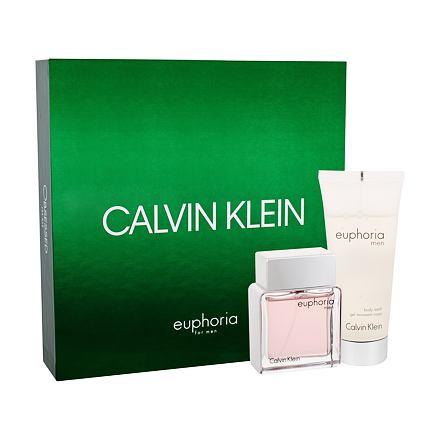 Calvin Klein Euphoria Men sada toaletní voda 50 ml + sprchový gel 100 ml pro muže