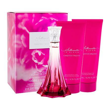 Christian Siriano Silhouette in Bloom 100 ml sada parfémovaná voda 100 ml + tělové mléko 200 ml + sprchový gel 200 ml pro ženy