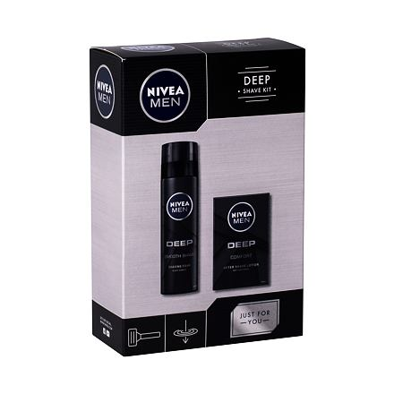Nivea Men Deep Comfort 100 ml sada voda po holení 100 ml + pěna na holení 200 ml pro muže