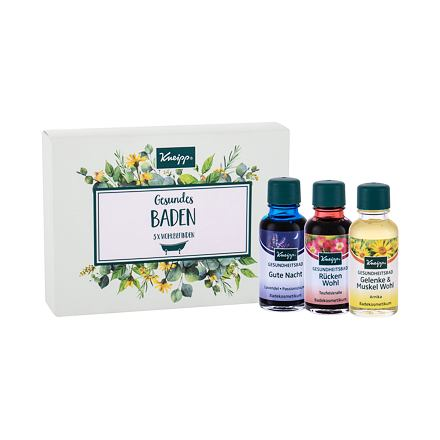 Kneipp Bath Oil 20 ml sada olej do koupele Lavender 20 ml + olej do koupele Arnica 20 ml + olej do k