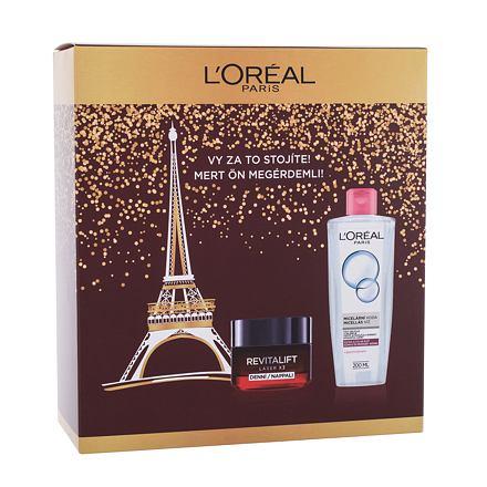 L´Oréal Paris Revitalift Laser X3 50 ml sada denní pleťový krém Revitalift Laser X3 50 ml + micelární voda 200 ml pro ženy