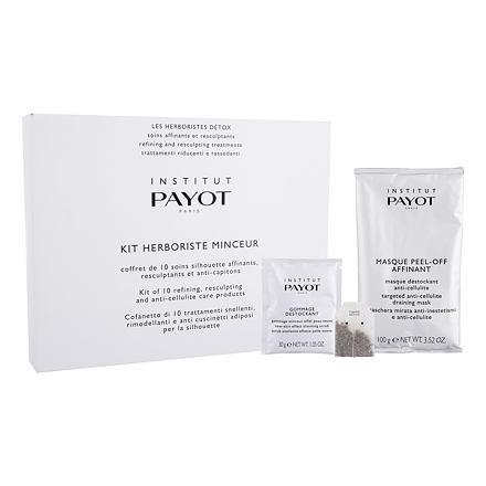 PAYOT Herboriste Minceur Kit 2000 g sada tělová maska Targeted Anti-Cellulite Draining Mask 20 x 100 g + tělový peeling New-Skin Effect Slimming Scrub 10 x 30 g + detoxikační čajová kúra 10 ks pro ženy