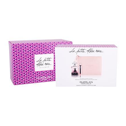 Guerlain La Petite Robe Noire sada parfémovaná voda 50 ml + rtěnka La Petite Robe Noire 022 Red Bow Tie 2,8 g + kosmetická taška pro ženy