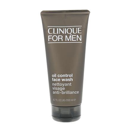 Clinique For Men Oil Control Face Wash čisticí gel na normální pleť 200 ml pro muže