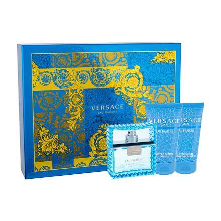 Versace Man Eau Fraiche sada toaletní voda 50 ml + sprchový gel 50 ml + balzám po holení 50 ml pro muže