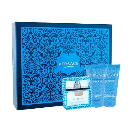 Versace Man Eau Fraiche 50 ml sada toaletní voda 50 ml + sprchový gel 50 ml + balzám po holení 50 ml pro muže