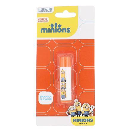 Minions Lip Balm balzám na rty 4,5 g odstín Banana pro děti