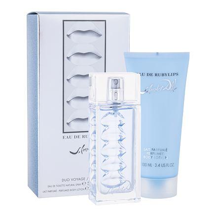 Salvador Dali Eau de Rubylips sada toaletní voda 50 ml + tělové mléko 100 ml pro ženy