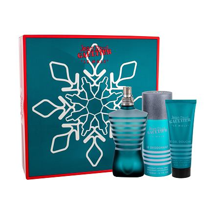 Jean Paul Gaultier Le Male sada toaletní voda 125 ml + sprchový gel 75 ml + deodorant 150 ml pro muže