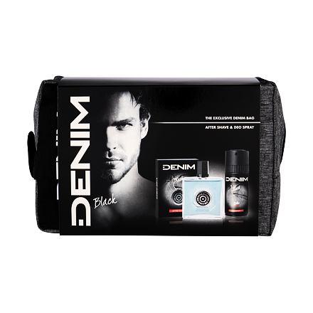 Denim Black 100 ml sada voda po holení 100 ml + deodorant 150 ml + kosmetická taška pro muže