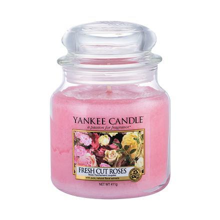 Yankee Candle Fresh Cut Roses vonná svíčka 411 g