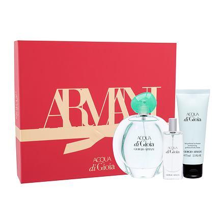 Giorgio Armani Acqua di Gioia 100 ml sada parfémovaná voda 100 ml + tělové mléko 75 ml + parfémovaná voda 15 ml pro ženy