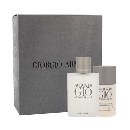 Giorgio Armani Acqua di Gio Pour Homme sada toaletní voda 100 ml + deostick 75 ml pro muže