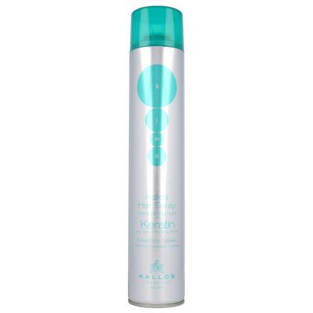 Kallos Cosmetics Keratin extra silný lak na vlasy s keratinem 750 ml pro ženy