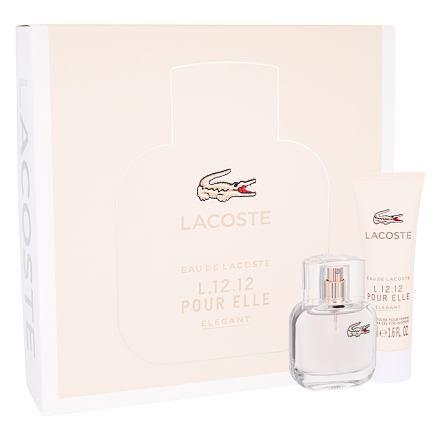 Lacoste Eau De Lacoste L.12.12 Pour Elle Elegant sada toaletní voda 30 ml + sprchový gel 50 ml pro ženy