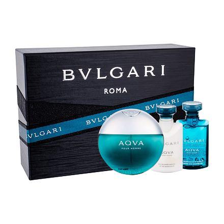 Bvlgari Aqva Pour Homme sada toaletní voda 50 ml + sprchový gel 40 ml + balzám po holení 40 ml pro muže
