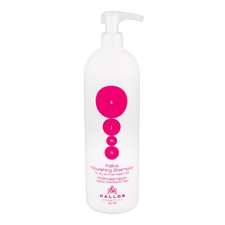Kallos Cosmetics KJMN Nourishing vyživující šampon pro poškozené a suché vlasy 1000 ml pro ženy