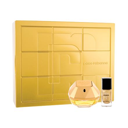 Paco Rabanne Lady Million 50 ml sada parfémovaná voda 50 ml + lak na nehty 9 ml pro ženy