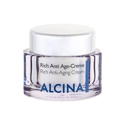 ALCINA Rich Anti-Aging Cream krém proti stárnutí pleti pro suchou pleť 50 ml pro ženy