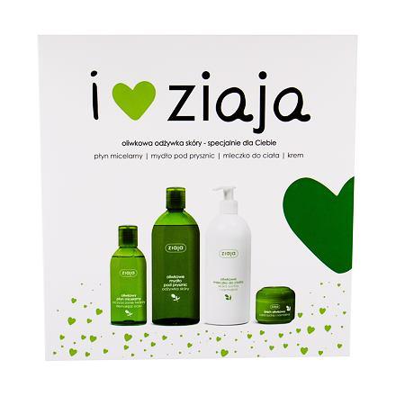 Ziaja Natural Olive 500 ml sada sprchový gel 500 ml + tělové mléko 400 ml + denní pleťová péče 50 ml + micelární voda 200 ml pro ženy