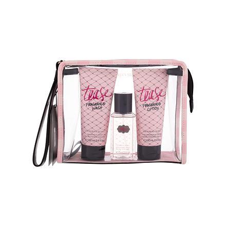 Victoria´s Secret Tease 75 ml sada vyživující tělový spray 75 ml + tělové mléko 100 ml + sprchový gel 100 ml + kosmetická taštička pro ženy