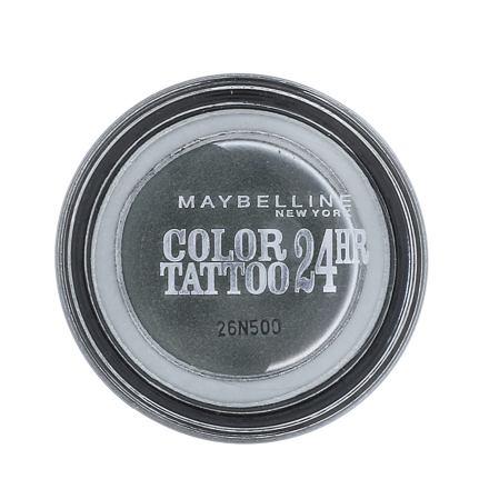 Maybelline Color Tattoo 24H krémové oční stíny 4 g odstín 55 Immortal Charcoal pro ženy
