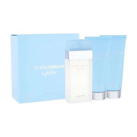 Dolce&Gabbana Light Blue sada toaletní voda 100 ml + tělový krém 100 ml + sprchový gel 100 ml p