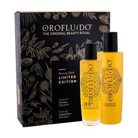 Orofluido Beauty Elixir 100 ml sada tekuté zlato Elixir 100 ml + šampon 200 ml pro ženy