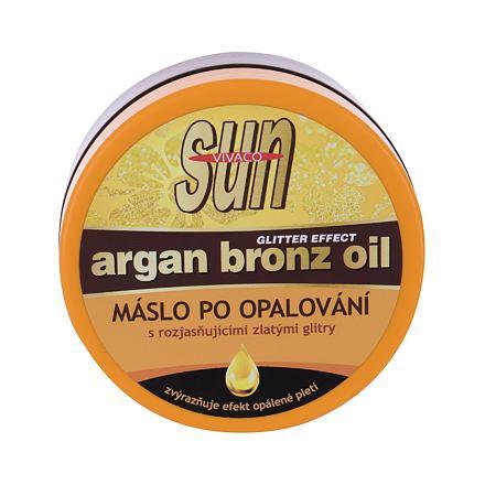 Vivaco Sun Argan Bronz Oil poopalovací máslo s arganovým olejem a třpytkami 200 ml pro ženy