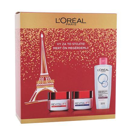 L´Oréal Paris Revitalift 50 ml sada denní pleťový krém Revitalift 50 ml + noční pleťový krém Revitalift 50 ml + micelární voda 200 ml pro ženy