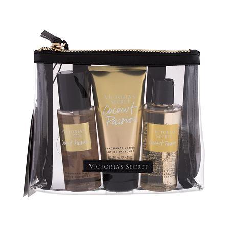 Victoria´s Secret Coconut Passion 75 ml sada vyživující tělový spray 75 ml + tělové mléko 75 ml + sprchový gel 89 ml + kosmetická taštička pro ženy
